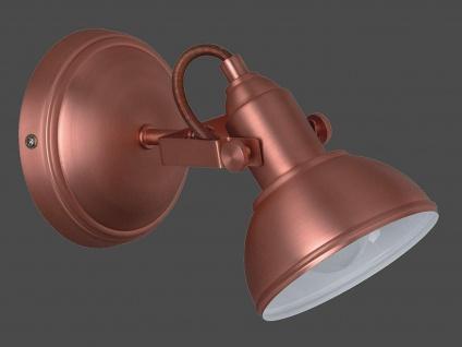 LED Wandspot im Retro Look aus Metall in Kupfer dreh + schwenkbar Wandstrahler