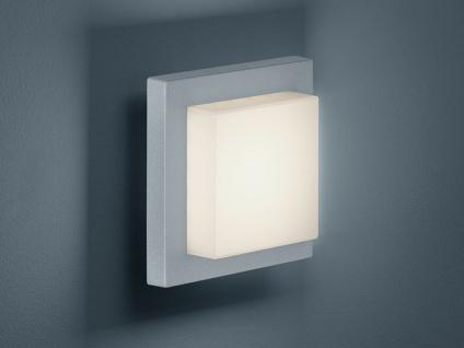 LED Außenwandleuchte Grau, Terrassenbeleuchtung Wand & Decke, DESIGN Außenlampe