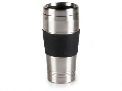 Thermobecher, Schwarz, 400ml, Kaffeebecher zu DO437K, Isolierbecher Travel Mug