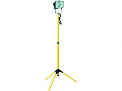 Halogenscheinwerfer, 400W, mit Stativ, gelb, 20, 5m Kabel, IP44 ELRO