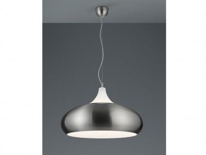 Runde LED Pendelleuchte, Industie Style aus Metall in Nickel matt, Esstischlampe