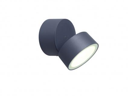 Runde LED Außenwandleuchte mit 90° schwenkbarem Kopf ALU Anthrazit 9, 4cm? medium - Vorschau 2
