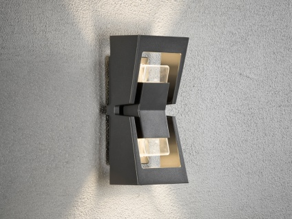 2er-Set dimmbare UP/DOWN Außenwandleuchten POTENZA austauschbares LED Modul - Vorschau 5