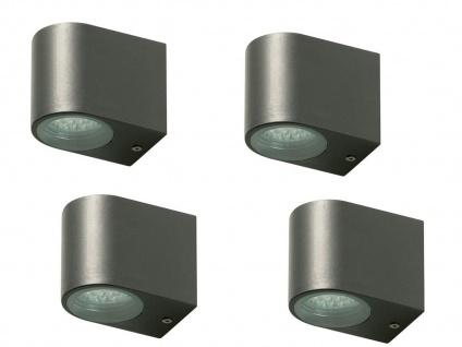 4x LED Außenwandleuchte Bastia Aluminium Anthrazit Down Light Wandleuchte Außen