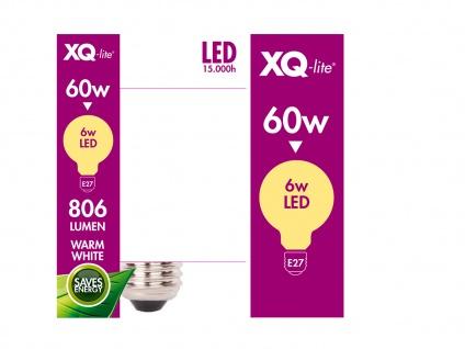 3er-Set FILAMENT LED Leuchtmittel Globe E27, 6 Watt, 806 Lumen, 2700K, warmweiß - Vorschau 4