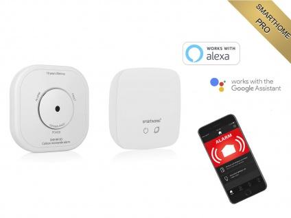 Smarthome CO Melder mit zentraler Basis - ALARM per APP aufs Smartphone Handy