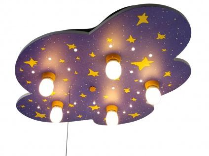 LED Kinder Deckenleuchte Nachthimmel mit Sternen Zugschalter LED-Schlummerlicht