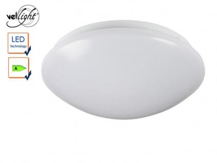 LED Deckenlampe rund Deckenleuchte weiß 26cm, Deckenbeleuchtung Flur Diele