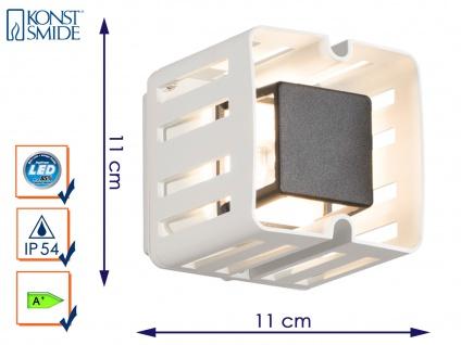Weiße LED Außenwandleuchte PESCARA Wandstrahler Wandleuchte 300 Lumen IP54