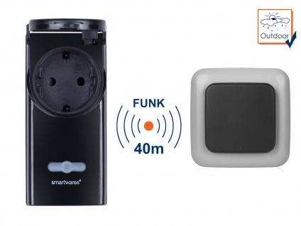Outdoor-Set1 = Funk Außensteckdose + Funk Wandschalter bis max. 3500W