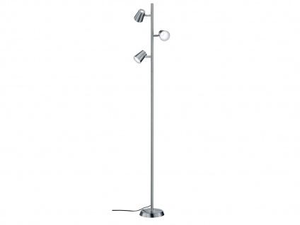Schwenkbare LED Stehlampe Nickel matt mit Touch-Dimmer Höhe 154cm - Wohnzimmer