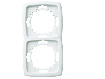 2-fach Rahmen / Blende aus Kunststoff, in Polarweiß, GAO
