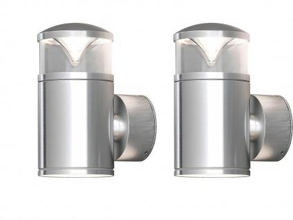 2Stk Konstsmide Energiespar Außenwandleuchte MONZA, Wandlampe Uplight Downlight - Vorschau 2