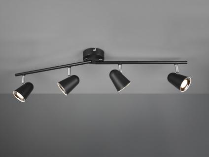 LED Deckenspot Strahler TOULOUSE Schwarz matt 4 flammig mit schwenkbaren Spots