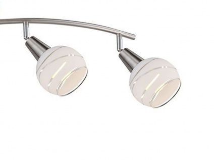 Deckenlampe ELLIOTT 4flammig Lampenschirme Glas, Deckenleuchte Strahler Wohnraum - Vorschau 2