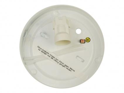 Deckenleuchte rund, Opalglas matt, Dekorring Chrom, Ø 25cm Büroleuchte - Vorschau 3
