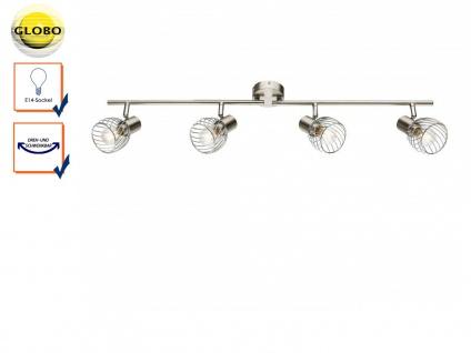 Design Deckenleuchte Deckenstrahler 4 flammig schwenkbar, Deckenlampe Wohnraum