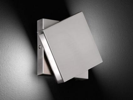 LED-Wandleuchte Nickel 10W, drehbar, 14x14 cm, Schalter, Trio-Leuchten