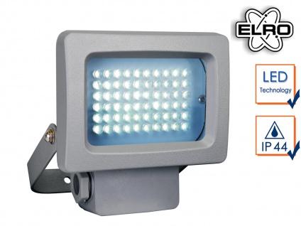 Mini Außenstrahler / Flutlichtstrahler grau 3, 6W LED, Außenlampe Scheinwerfer