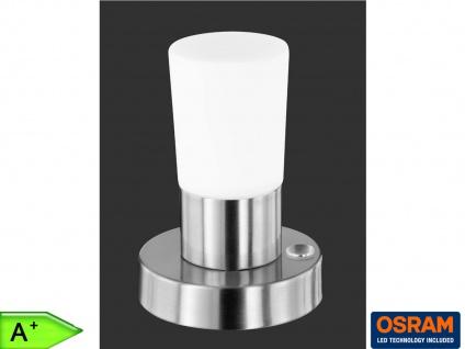 LED-Tischlampe mit Touchdimmer, Nickel matt, Glas, Trio-Leuchten