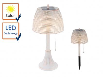 Weiße LED Vintage Solar Wegebeleuchtung mit Erdspieß für den Garten, Tischdeko