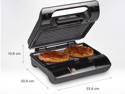 Kontakt Grill Snackmaker auch für Panini & Sandwich mit abnehmbaren Platten - Vorschau 3