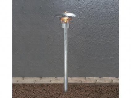 Standleuchte Wegeleuchte MODENA galv. Stahl, E27, Höhe 98 cm, IP23