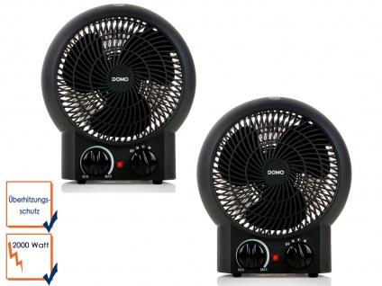2er Set Heizlüfter mit 3 einstellbaren Stufen mit Ventilator-Funktion, 2000 Watt