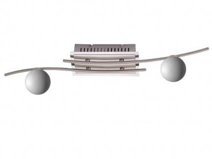 LED Deckenlampe Deckenstrahler 2flammig Glaskugeln weiß, Deckenstrahler Wohnraum