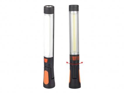 Multifunktionales 2er SET LED Camping Handleuchten mit Haken, Magneten & Batterie