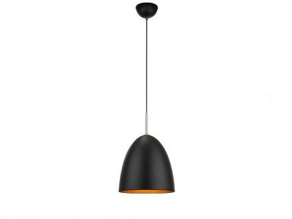 LED Hängeleuchte dimmbar, schwarz gold, Pendelleuchte Küchenlampe Esstisch