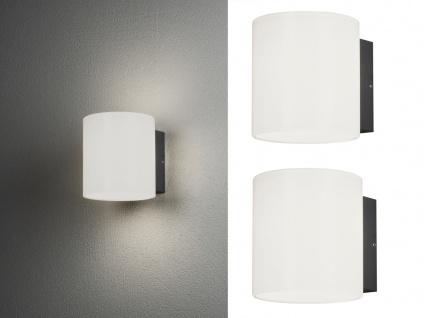 2er SET LED Außenwandlampen mit Acrylglas, Außenleuchte aus ALU Hausbeleuchtung