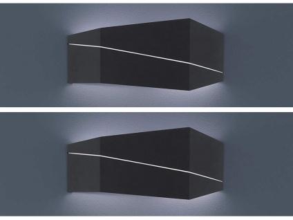 2er SET Wandlampen eckig in schwarz matt 40 x 18 x 6, 5cm, modernes Flurlicht