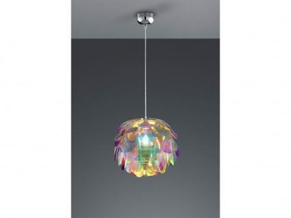 Verspielte LED Pendelleuchte Ø40cm 1flammig mit bunten Design Kunststoffblättern