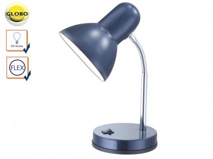 Tischleuchte BASIC blau flexibel, Schreitischlampe Leselampe Arbeitsleuchte Büro
