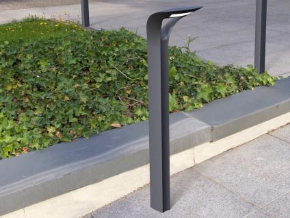 Moderne LED Stehleuchte für den Außenbereich, ausgefallenes Design ALU Anthrazit