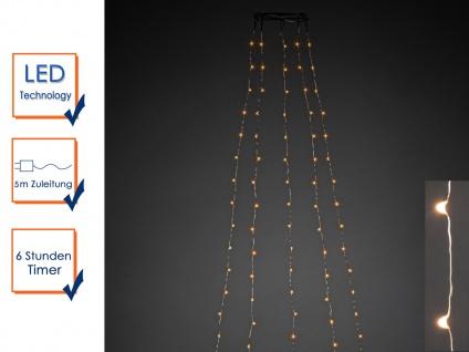 Lichterkette Innen 180 bernsteinfarbene LEDs & Timer Weihnachtsbaum Beleuchtung - Vorschau 4