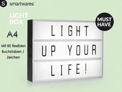 Light-Box Leuchtkasten A4 mit 85 Buchstaben + Symbolen, batteriebetrieben