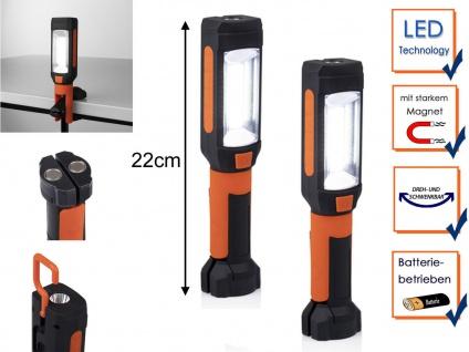 2x LED Handlampen Taschenlampen mit Magnet Haken & Clip - Multifunktionsleuchten