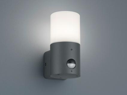 Moderne LED Wandlampe für draußen Fassadenleuchten mit Bewegungsmelder Anthrazit