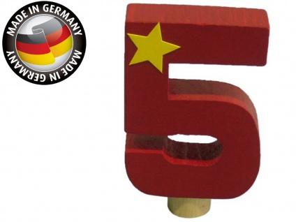 Geburtstagszahl 5 für Niermann Kerzenhalter, Holz, Happy-Zahl Geburtstag Kinder