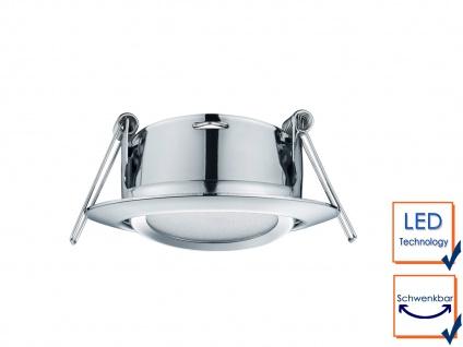 3 Stk. LED Einbaustrahler Decke rund schwenkbar Chrom glänzend 5W Deckenleuchte - Vorschau 4