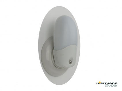 2er Set LED Nachtlichter weiß OVAL Dämmerungsauotmatik Nachtlampe Kinderzimmer - Vorschau 2