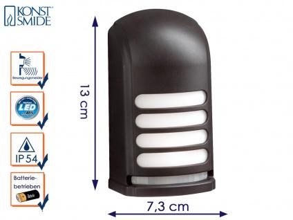 LED Wandaufbauleuchte Nachtlicht PRATO Bewegungsmelder batteriebetrieben schwarz