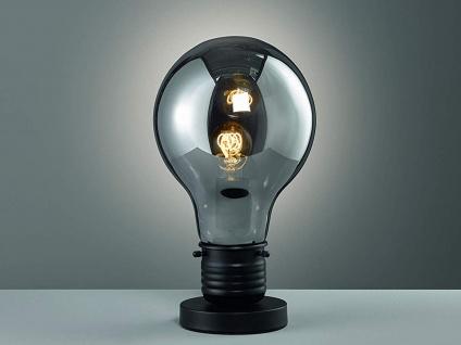 Coole Tischleuchte Höhe 37cm mit LED, Retro Tischlampe Designklassiker Glühbirne
