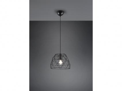 Retro Hängelampe LED 1 flammig Metall Korbleuchte Schwarz matt Ø27cm Höhe 20cm
