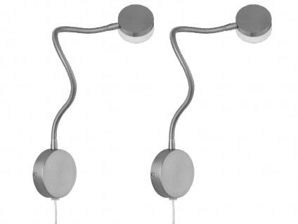 2er Set LED Leseleuchten Wandleuchte flexibel, Wandlampe mit Schalter, Leselampe - Vorschau 1