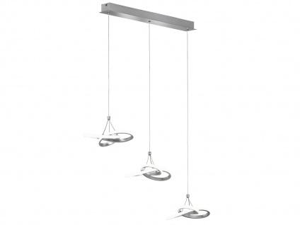 LED Pendelleuchte in Blattsilber-Optik 39W höhenverstellbar - Esszimmerleuchten