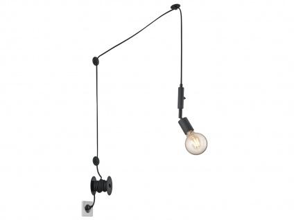 LED Pendelleuchte Schwarz mit Stecker für Steckdose 6m langes Kabel Hängelampen - Vorschau 2