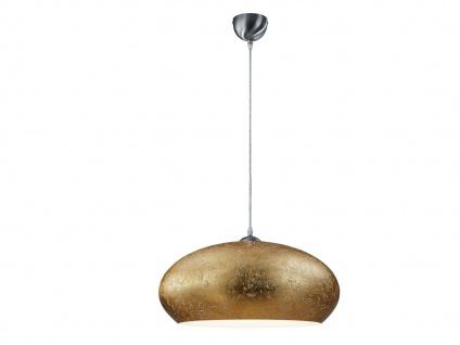 Retro LED Pendelleuchte Lampenschirm Metall in Gold Ø 50cm - edle Esstischlampen